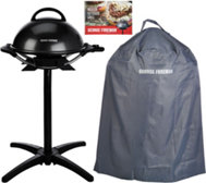 George Foreman Indoor/Outdoor Grill w/ Cover & Recipes