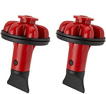 Set of 2 Disposal Genie Plus with Stopper and Scraper - K46983