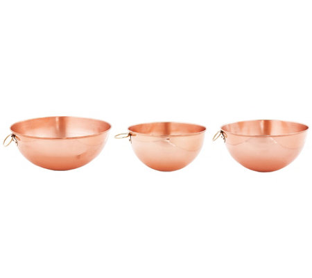 Old Dutch International Solid Copper Beating Bowls