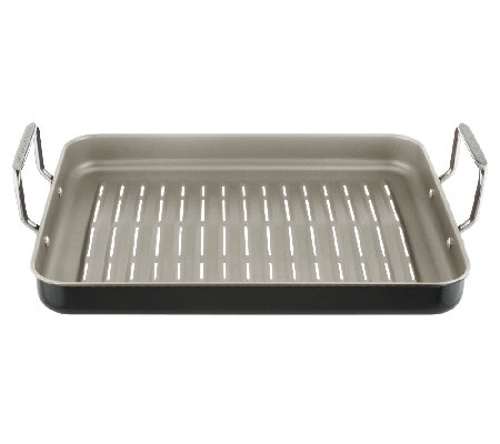 """As Is"" Cook's Essentials 16"" x 12"" Nonstick Rectangle BBQ Grill Pan"