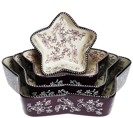 Temp-tations Floral Lace Star-Shaped Nested Cake Pans