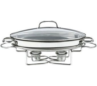 "Cuisinart Stainless 13.5"" 2.5-qt Oval Buffet Server - K123585"