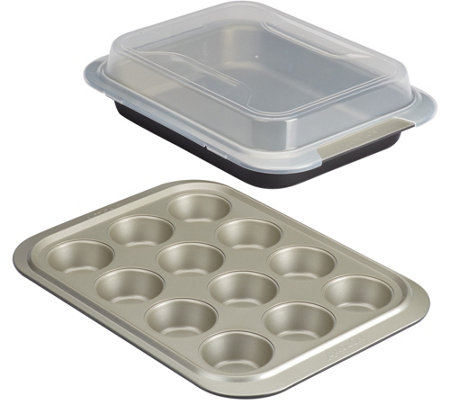 Anolon Nonstick 3-Piece Bakeware Set with Shared Lid