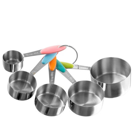 Classic Cuisine 5-Piece Stainless Steel Measuring Cups