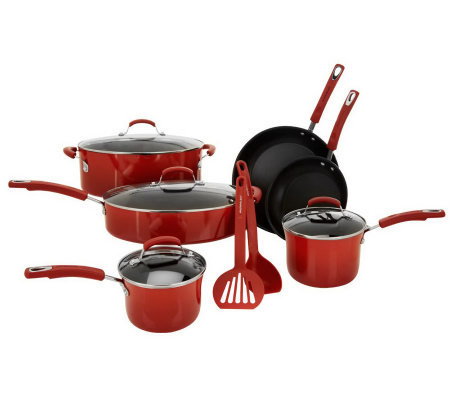 Rachael Ray 12-pc Gradient Porcelain Enamel Cookware Set