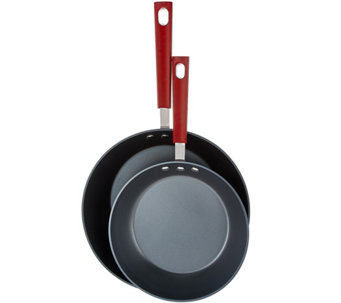 "Emeril 8.5"" and 10.5"" E-Titanium Nonstick Oval Saute Pans - K43585"
