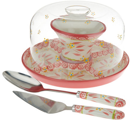 "Temp-tations Old World 12"" Convertible Cake Stand Set"