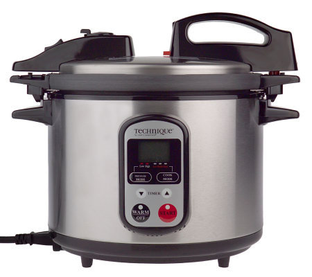 Technique Hard Anodized 5qt. Digital Pressure Cooker w/ Accessories
