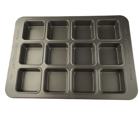 Technique AluminizedSteel Nonstick 12 Cup Square Muffin Pan