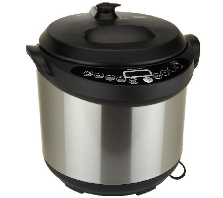 as is cook s essentials 6qt round digital nonstick pressure cooker rh qvc com cooks essentials pressure cooker manualsk5963 cooks essentials pressure cooker manual k5963