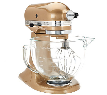 KitchenAid 5 qt 325W Tilt Head Stand Mixer w/ Glass Bowl & FlexEdge Beater
