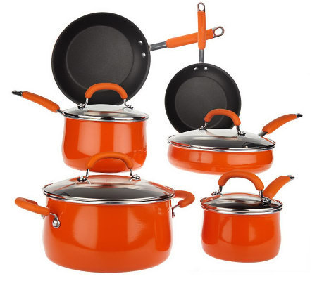 Rachael Ray 10-piece Porcelain Enamel Cookware Set