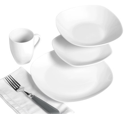Tabletops Gallery 16-Pc Quinto Dinnerware Set