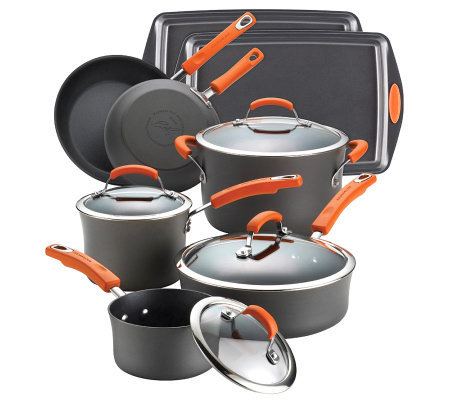 Rachael Ray Hard Anodized II Nonstick 12-PieceSet