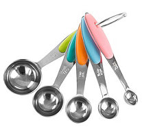 Classic Cuisine 5-Piece Stainless Steel Measuring Spoons - K376587
