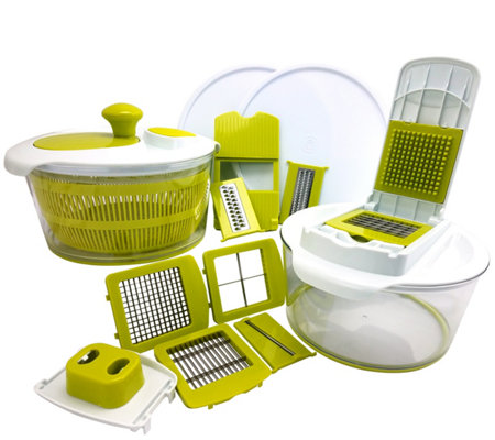 MegaChef 10-in-1 Salad Spinner, Slicer, Dicer,and Chopper