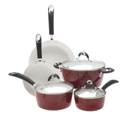 Bialetti 8-Piece Nano-Ceramic Nonstick Cookware Set