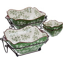 Temp-tations Floral Lace 6-Piece Bakeware Set - K46088