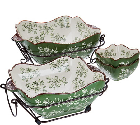 Temp-tations Floral Lace 6-Piece Bakeware Set