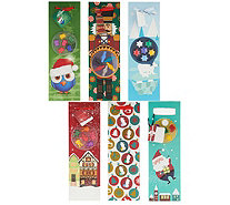 NOD Set of 6 Holiday Wine Gift Bags w/ Wine Marker Charms - K46488