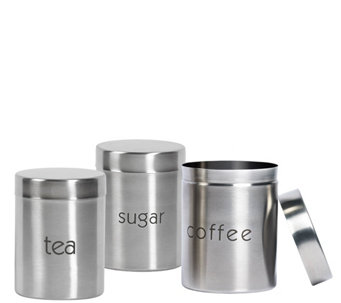 3-Piece Stainless Steel Canister Set - K305189