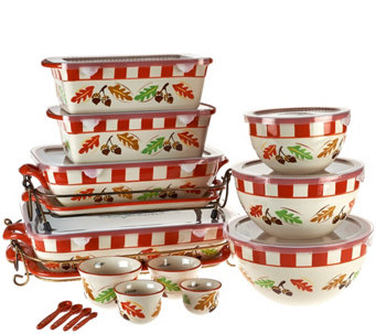 """As Is"" Temp-tations Old World 20 pc Bakeware Set - K307689"
