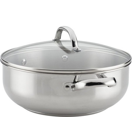 Farberware Buena Cocina 6-Qt Stainless Steel Covered Casserole