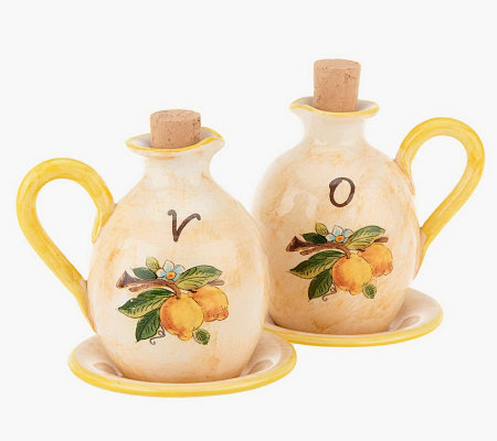 Pietra Italia Handmade Oil & Vinegar Set