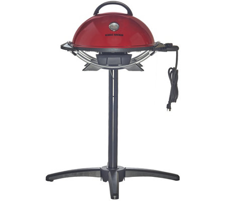 Elegant George Foreman 15 Serving Indoor/Outdoor Grill With Grill Cover
