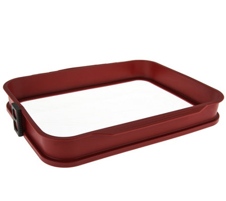 CooksEssentials Glass Bottom Baker with Removable Silicone Edges