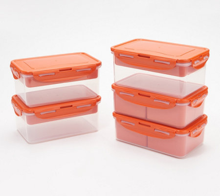 Lock & Lock 5 Piece Rectangle Divider Set