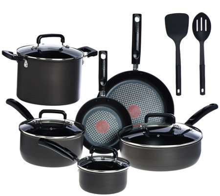 T-Fal 12-pc Hard Anodized Titanium NS Cookware Set