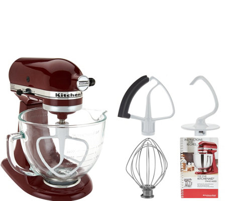 KitchenAid 5qt. 300W Tilt Head Stand Mixer w/Glass Bowl & Flex Edge