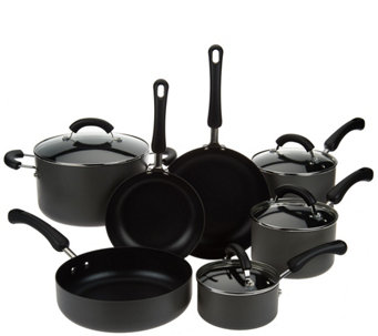 CooksEssentials 11-Pc Hard Anodized Dishwasher Safe Cookware Set - K43291