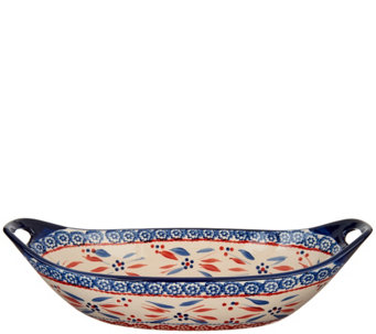 "Temp-tations Old World 15"" x 7"" Oval Centerpiece Bowl - K43791"