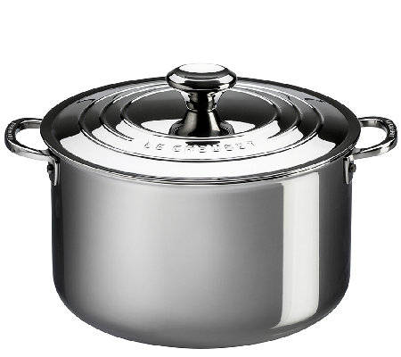 Le Creuset Stainless Steel 7-qt Stockpot with Lid