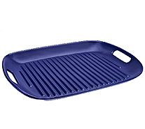 """As Is"" Cook's Essentials 16""x 12"" Flameproof Ceramic Grill Pan - K307092"