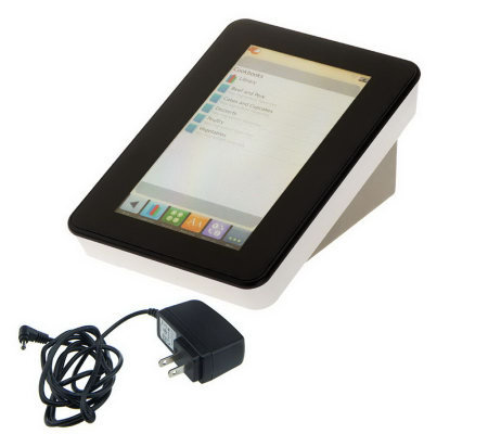 "Key Ingredient 7"" LCD Touchscreen Digital Recipe Reader w/Wifi"