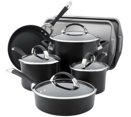 Circulon Symmetry 9-Piece Cookware Set with 2-Piece Bakeware