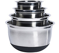 Denmark 4Pc Stainless Steel Mixing Bowl Set with Silicone Bas - K305193