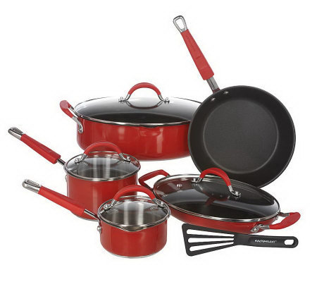 Rachael Ray Colored Stainless Steel 10-piece Cookware Set