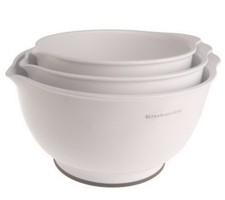 Kitchenaid Set Of 3 Non Slip Mixing Bowls