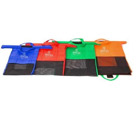 Trolley Bags Set of 4 Big Cart Reusable Shopping Bags
