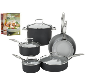 Green Pan 10-piece Hard Anodized Dishwasher Safe Cookware Set - K43393