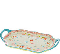 Temp-tations Old World Scalloped Tray with Handles - K43793