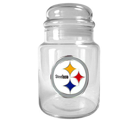 NFL Pittsburgh Steelers 31oz Glass Candy Jar