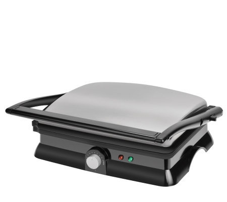 Kalorik Stainless Steel/Black Panini Maker