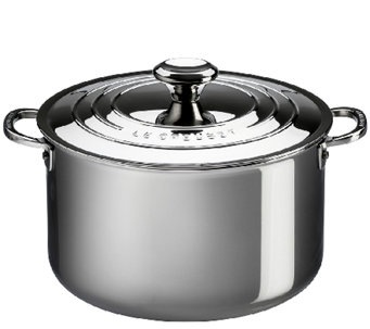 Le Creuset Stainless Steel 9-qt Stockpot with Lid - K303594