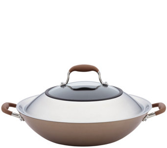 "Anolon Advanced Bronze Hard-Anodized Nonstick 14"" Wok - K305994"