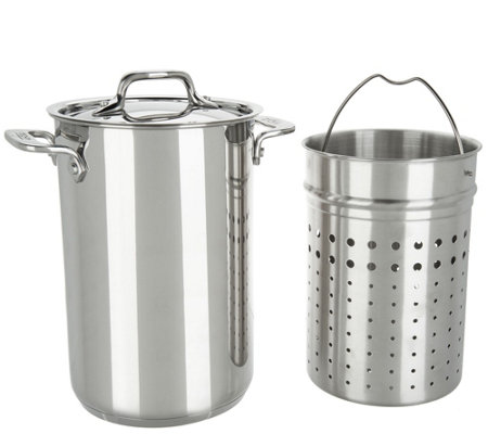 All-Clad Stainless Steel 3.3qt. Pot with Perforated & Steamer Inserts
